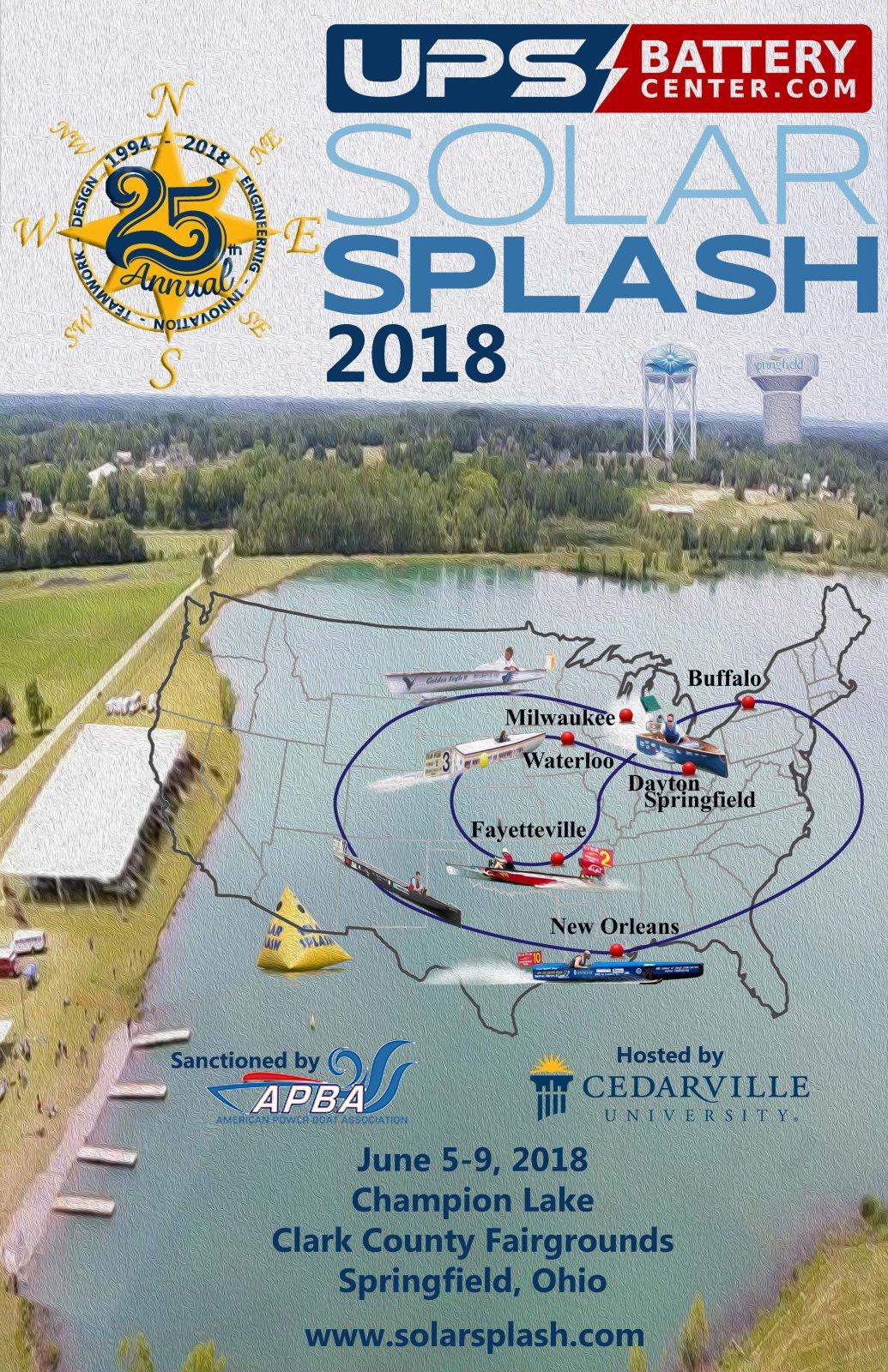 Solar Splash 2018 - Poster R