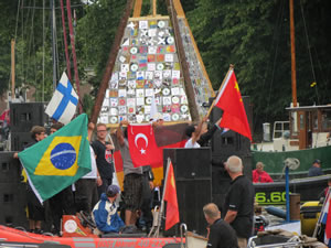 Flags of the competitors