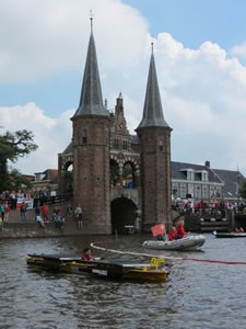 Restart for the afternoon at the town of Sneek
