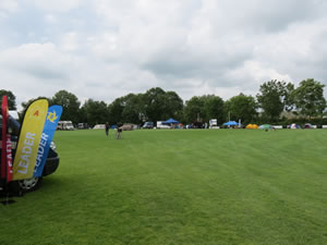 The team camping area