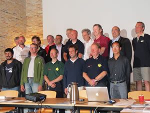 Group photo of the international solar boating meeting