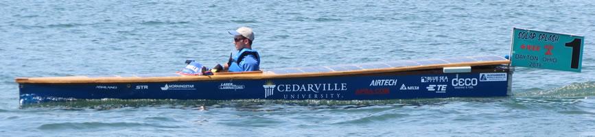 Cedarville University boat