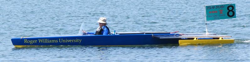 Roger Williams University boat