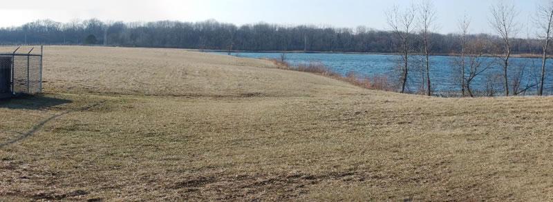 Lakeside grassy area